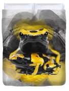 Yellow Poison Dart Frog No 04 Duvet Cover