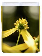 Yellow Pollinate Duvet Cover