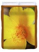 Yellow Poppy With Rain Duvet Cover