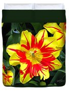 Yellow Red Flower Duvet Cover