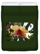Yellow Red Orchid Duvet Cover