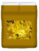 Yellow Rhodies Floral Brilliant Sunny Rhododendrons Baslee Troutman Duvet Cover