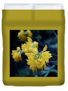Yellow Rhododendron Flower Duvet Cover
