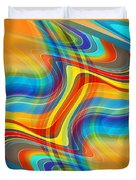 Yellow Road Duvet Cover