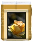 Yellow Rose Bud Dreams With Design Duvet Cover