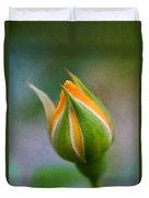 Yellow Rose Bud - Rose Bud Duvet Cover