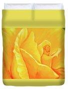 Yellow Rose Detail Duvet Cover