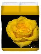 Yellow Rose  - Friendship,joy,good Health Duvet Cover