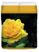 Yellow Rose - Full Bloom Duvet Cover