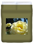 Yellow Rose Garden Landscape 3 Roses Art Prints Baslee Troutman Duvet Cover