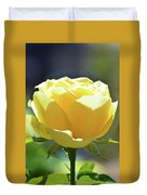 Yellow Rose In The Sun Duvet Cover