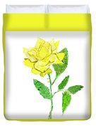 Yellow Rose, Painting Duvet Cover