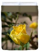 Yellow Rose With Ants Duvet Cover