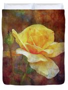 Yellow Rose With Raindrops 3590 Idp_2 Duvet Cover