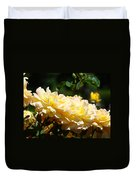 Yellow Roses Sunlit Rose Flowers 1 Rose Garden Giclee Artwork Baslee Troutman Duvet Cover