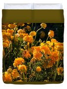 Yellow Rules The Field Duvet Cover