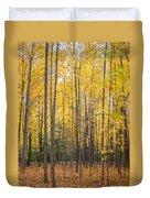 Yellow Saplings Duvet Cover