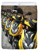 Yellow Scooters Duvet Cover