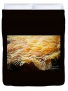 Yellow Sea Anemones Macro Duvet Cover