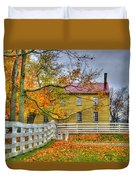 Yellow Shaker House 4 Duvet Cover