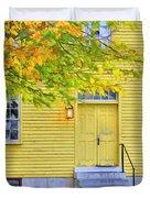 Yellow Shaker House Duvet Cover