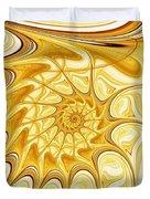 Yellow Shell Duvet Cover