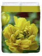 Yellow Shy Duvet Cover