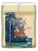 Yellow Sky At Edison Winter Estate Duvet Cover