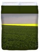 Yellow Skyline Duvet Cover