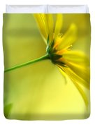 Yellow Spring Daisy Abstract By Kaye Menner Duvet Cover