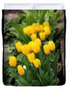Yellow Spring Tulips Duvet Cover