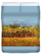 Yellow Stand Of Trees Duvet Cover