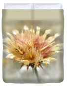 Yellow Star Thistle Duvet Cover by Valerie Anne Kelly