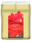 Yellow-striped Red Rose Duvet Cover