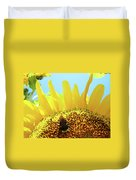 Yellow Sunflower Art Prints Bumble Bee Baslee Troutman Duvet Cover