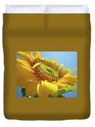 Yellow Sunflower Blue Sky Art Prints Baslee Troutman Duvet Cover