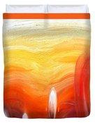 Yellow Sunlight Abstract Art Duvet Cover
