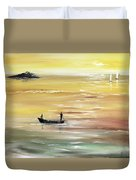 Yellow Sunset Duvet Cover