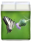 Yellow Swallow Tail 2 Duvet Cover