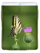 Yellow Swallow Tail Duvet Cover