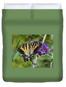 Yellow Swallowtail Butterfly Two Duvet Cover