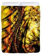 Yellow Symbol Design Duvet Cover