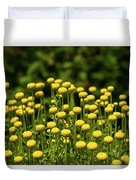 Yellow Tansy Duvet Cover