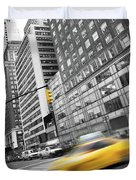 Yellow Taxi Nyc Duvet Cover