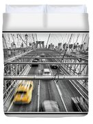 Yellow Taxi Duvet Cover