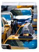 Yellow Taxis Duvet Cover