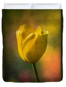 Yellow Tulip Textures Of Spring Duvet Cover