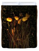 Yellow Tulips Decaying At Sunset Duvet Cover