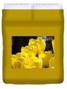 Yellow Tulips Floral Art Prints Nature Garden Duvet Cover