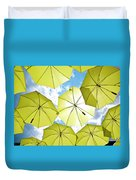Yellow Umbrellas Duvet Cover
